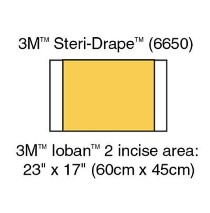 3m 6650 ioban antimicrobial incise drapes